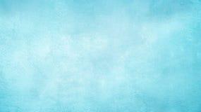 Dekorativer hellblauer cyan-blauer gemalter Hintergrund des abstrakten Schmutzes Stockbild