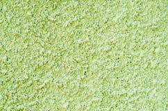 Dekorativer hellgrüner Entlastungsgips auf Wand Stockfoto