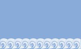 Dekorativer Hintergrund als stilisiert Strudel der Wellen Stockfotografie
