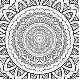 Dekorativer Hintergrund der gewundenen Mandala lizenzfreie stockbilder