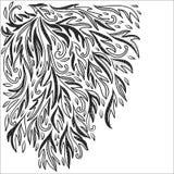 Dekorativer Hintergrund der klassischen Flourishgekritzel-Illustration Stockbild