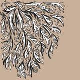 Dekorativer Hintergrund der klassischen Flourishgekritzel-Illustration Stockfoto