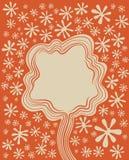 Dekorativer Hintergrund des Blumenbaums stock abbildung