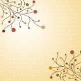 Dekorativer Hintergrund des Herbstes Stockbilder