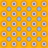Dekorativer Hintergrund des Vektors mit Blumen Stockbilder