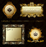 Dekorativer Hintergrund des Zauberweinlesegoldfeldes Lizenzfreies Stockfoto
