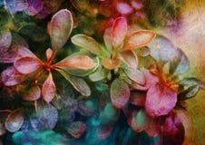 Dekorativer Hintergrund mit Busch verlässt, natürlicher Herbsthintergrund, pflanzen künstlerischen Hintergrund, strukturellen ant Stockfoto