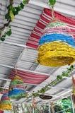 Dekorativer Innenraum des Cafés im Freien, Sommer Stockfoto