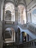 Dekorativer Innenraum des historischen Gebäudes - Catania, Sizilien, Italien Stockbild