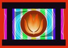 Dekorativer Kamin Lizenzfreies Stockfoto