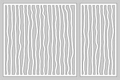 Dekorativer Kartensatz für den Schnitt von Laser oder von Plotter Gekritzellinie Musterplatte Laser-Schnitt Verhältnis1:2; 1:1 Au lizenzfreie abbildung