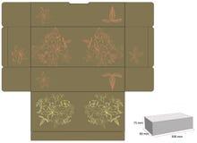 Dekorativer Kasten mit gestempelschnitten (Blumen) Stockfoto
