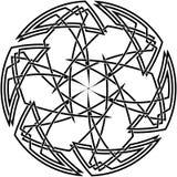Dekorativer keltischer Knoten Stockbild