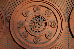 Dekorativer Keramikziegel Lizenzfreies Stockbild