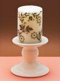 Dekorativer keramischer Kerzenhalter Stockfotografie