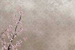 Dekorativer Kirschbaum und chinesisches Muster filigre Lizenzfreies Stockfoto