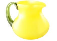 Dekorativer Krug mit gelbem Glas Stockfoto
