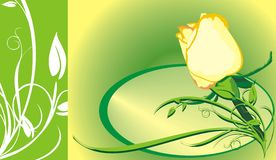 Dekorativer mit Blumenhintergrund für holidayâs Karte. R lizenzfreie abbildung