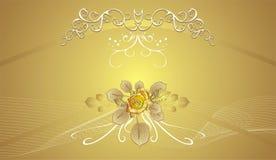 Dekorativer mit Blumenhintergrund für holidayâs Karten stock abbildung
