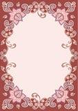 Dekorativer mit Blumenrand Stockbilder