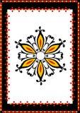 Dekorativer mit Blumenrand vektor abbildung