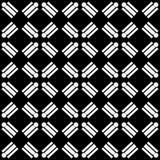 Dekorativer nahtloser diagonaler geometrischer schwarzer u. weißer Muster-mit Blumenhintergrund Schwierig, Material vektor abbildung