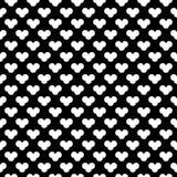 Dekorativer nahtloser diagonaler geometrischer schwarzer u. weißer Muster-mit Blumenhintergrund Schwierig, Material lizenzfreie abbildung