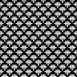 Dekorativer nahtloser diagonaler geometrischer schwarzer u. weißer Muster-mit Blumenhintergrund Schwierig, Material stock abbildung