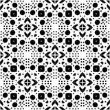 Dekorativer nahtloser geometrischer schwarzer u. weißer Muster-mit Blumenhintergrund Stockbild