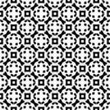 Dekorativer nahtloser geometrischer schwarzer u. weißer Muster-mit Blumenhintergrund Stockfotografie