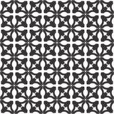 Dekorativer nahtloser geometrischer schwarzer u. weißer Muster-mit Blumenhintergrund Stockbilder