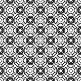 Dekorativer nahtloser geometrischer schwarzer u. weißer Muster-mit Blumenhintergrund Stockfoto