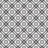 Dekorativer nahtloser geometrischer schwarzer u. weißer Muster-mit Blumenhintergrund Lizenzfreie Stockfotos