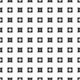 Dekorativer nahtloser geometrischer schwarzer u. weißer Muster-mit Blumenhintergrund Lizenzfreies Stockbild