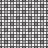 Dekorativer nahtloser geometrischer schwarzer u. weißer Muster-mit Blumenhintergrund Lizenzfreie Stockbilder
