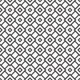 Dekorativer nahtloser geometrischer schwarzer u. weißer Muster-mit Blumenhintergrund stock abbildung