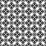 Dekorativer nahtloser geometrischer schwarzer u. weißer Muster-mit Blumenhintergrund Blumen, Geometrie vektor abbildung