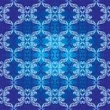 Dekorativer nahtloser Hintergrund im Blau Lizenzfreies Stockfoto