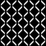 Dekorativer nahtloser Linie geometrisches Schwarzes u. weißes Muster-Hintergrund Schwierig, Material lizenzfreie abbildung