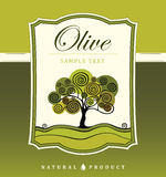 Dekorativer Olivenbaum stock abbildung