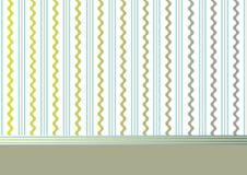Dekorativer olivgrüner Hintergrund mit Streifen und Wellen Stockfoto