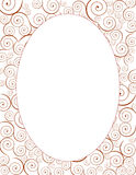 Dekorativer Ovalspiralenrahmen Lizenzfreies Stockfoto