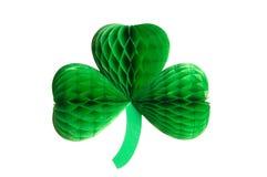 Dekorativer Papierklee-Shamrock für St Patrick Tag Lizenzfreies Stockbild