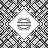 Dekorativer Rahmen Art Deco-Weinlese Retro- Kartendesign-Vektor Temp Stockfotografie