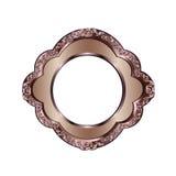 Dekorativer Rahmen der Bronzefarbe Lizenzfreie Stockfotos
