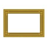 Dekorativer Rahmen der goldenen Farbe Lizenzfreie Stockfotografie