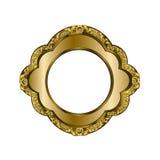 Dekorativer Rahmen der goldenen Farbe Stockbild
