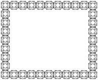 Dekorativer Rahmen der rechteckigen Form geometrisches Muster der schwarzen Farbe Stockbild