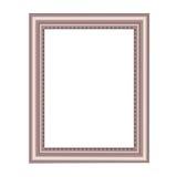 Dekorativer Rahmen der silbrigen Farbe Stockfotos