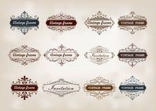 Dekorativer Rahmen in der Weinleseart Lizenzfreie Stockbilder